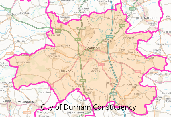 Durham Constituency Map