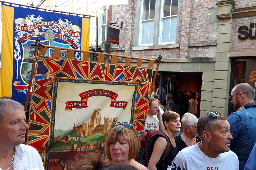 Durham City Labour Banner Miners Gala 2018