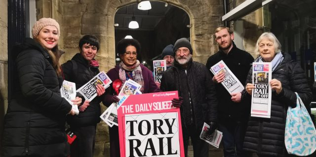 Campaign by City of Durham Labour Party members against Tory Rail Rip Off