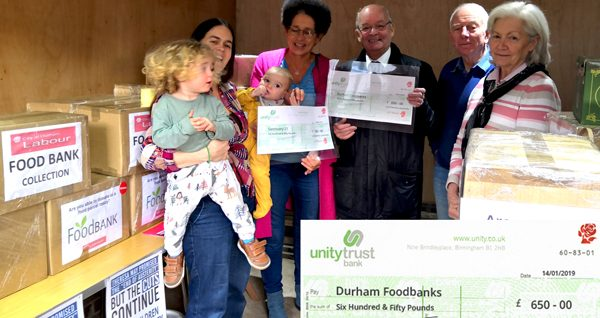 Labour Party members support Foodbank Collection